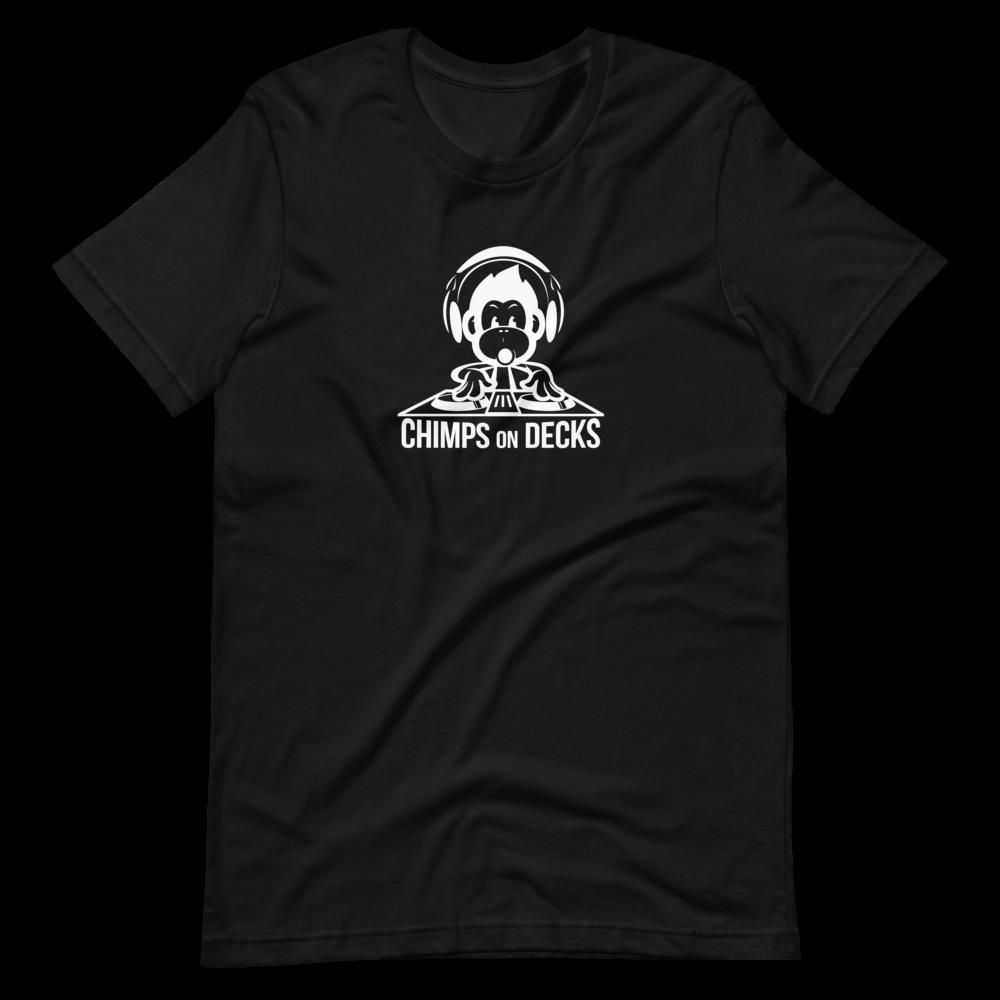 Chimps on Decks Women's T-Shirt - Black/White