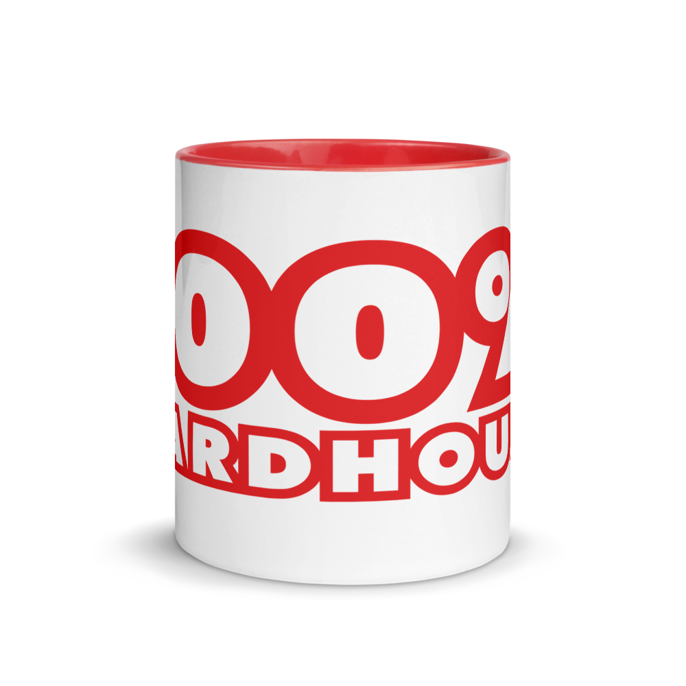 100% HH Mug with Red Color Inside