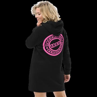 100% Black/Pink Hoodie dress