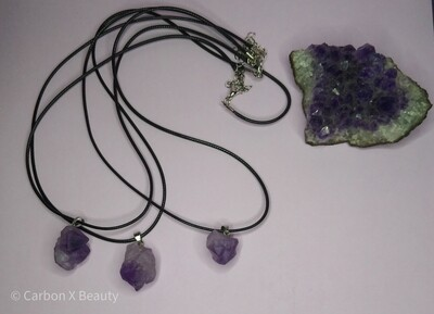Charged Amythest Crystal necklace