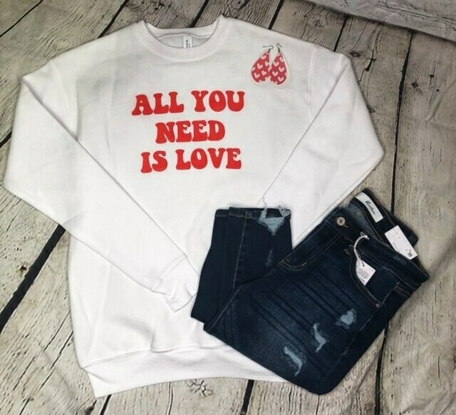 All You Need Pullover by Bella Canvas