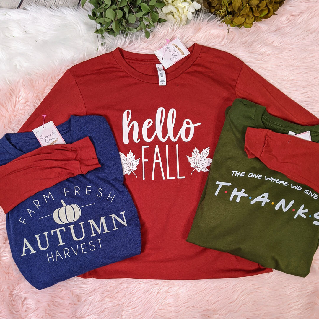 Hello Fall Tee by Bella Canvas