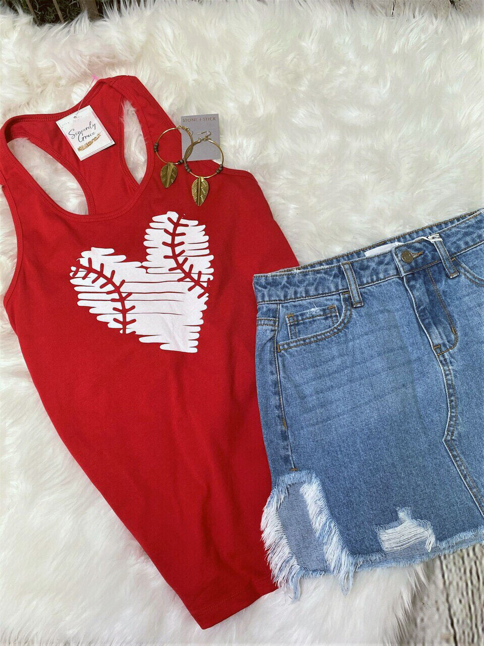 Baseball Love Tank by Bella Canvas