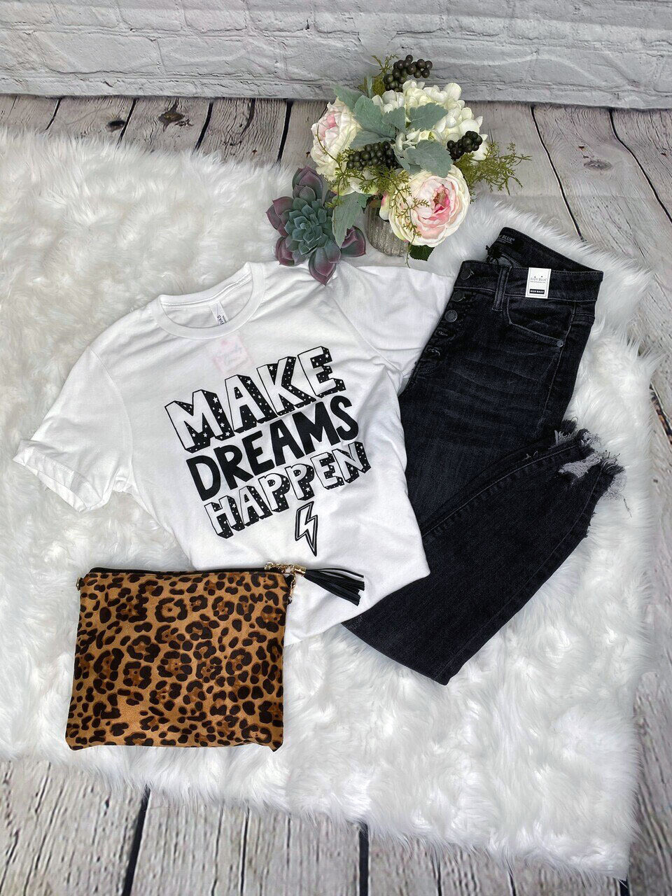 Make Dreams Tee by Bella Canvas