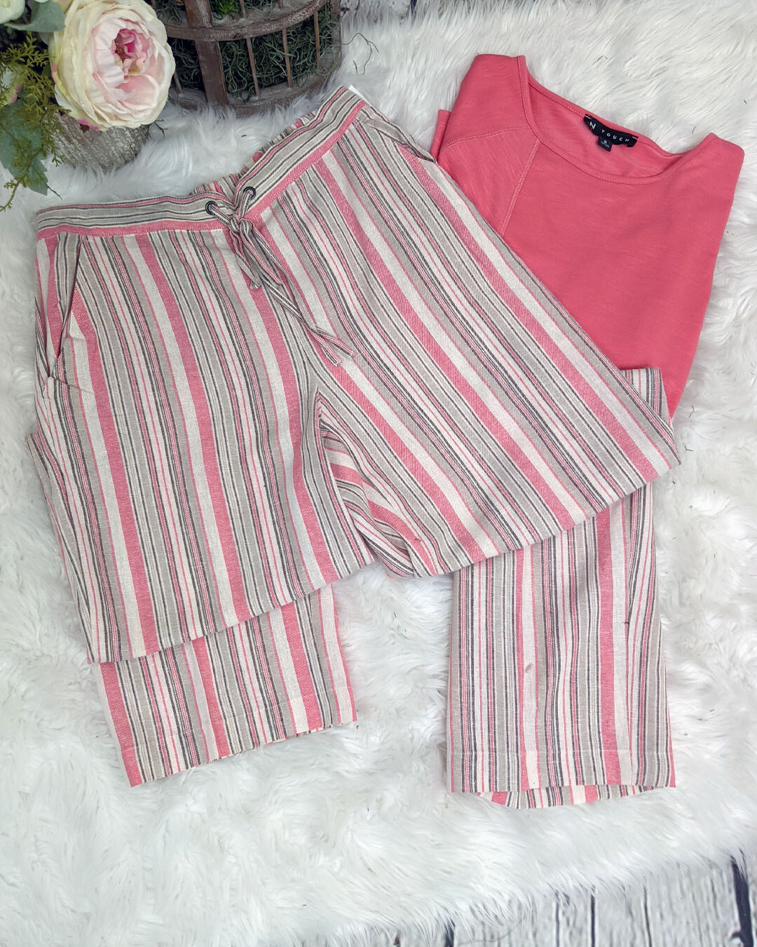 Josilee Linen Pant by N Touch