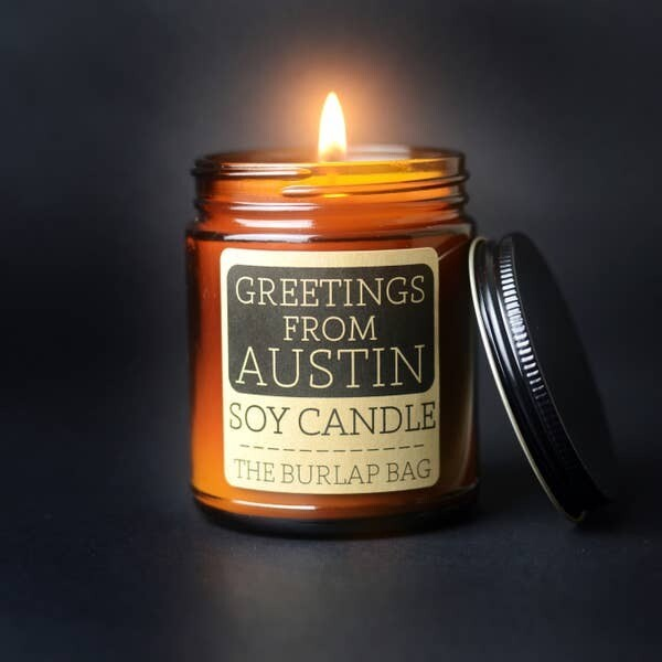Greetings From Austin Soy Candle