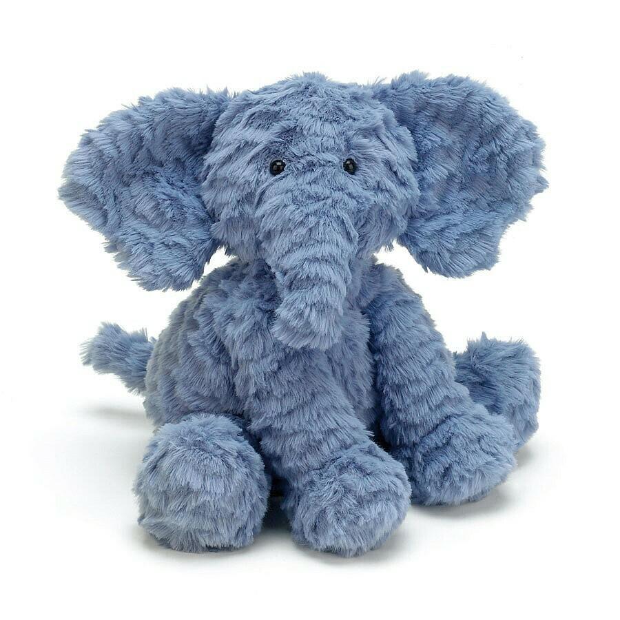 Fuddlewuddle Elephant Plush, Blue