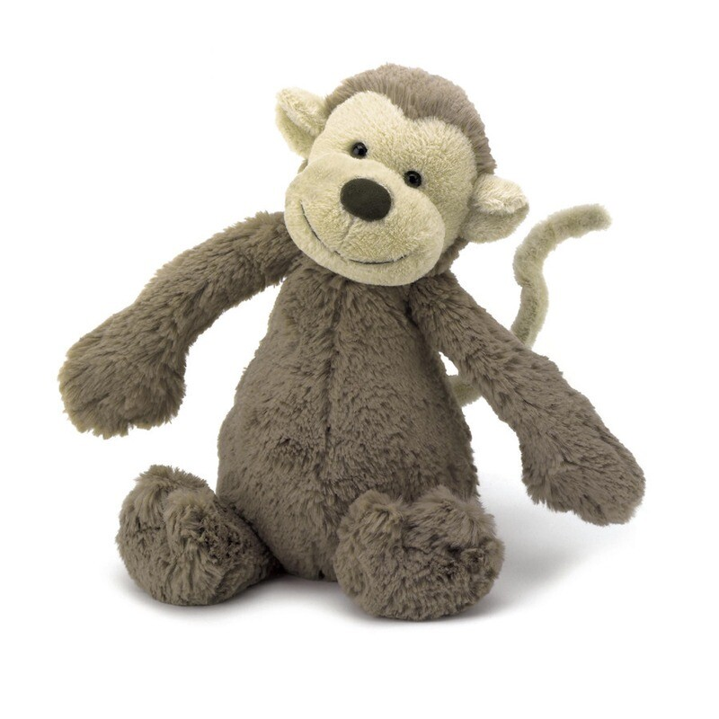 Bashful Monkey Plush