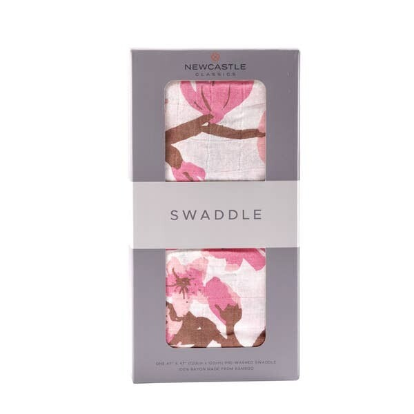 Cherry Blossom Swaddle Blanket