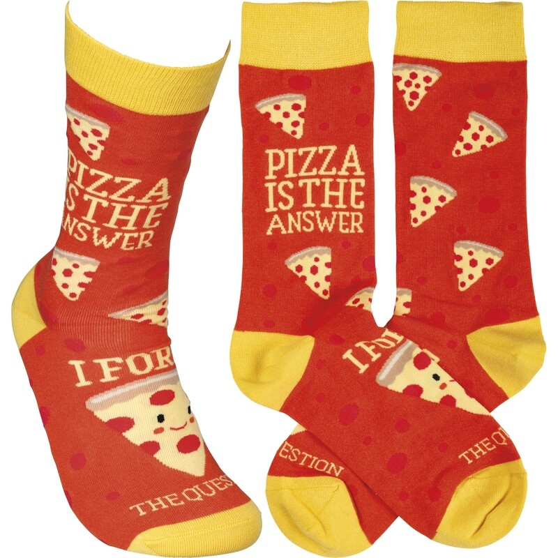 Pizza Is The Answer Socks