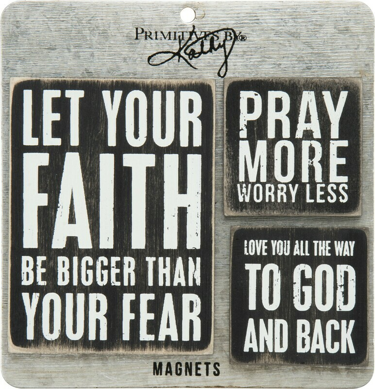 Memo Holder Magnet Set - Faith