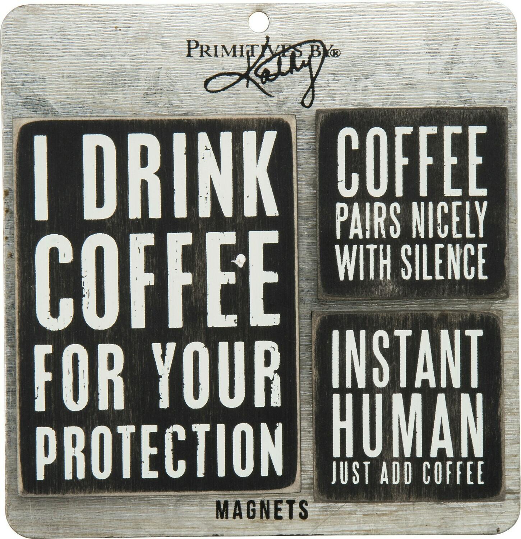 Memo Holder Magnet Set - Coffee