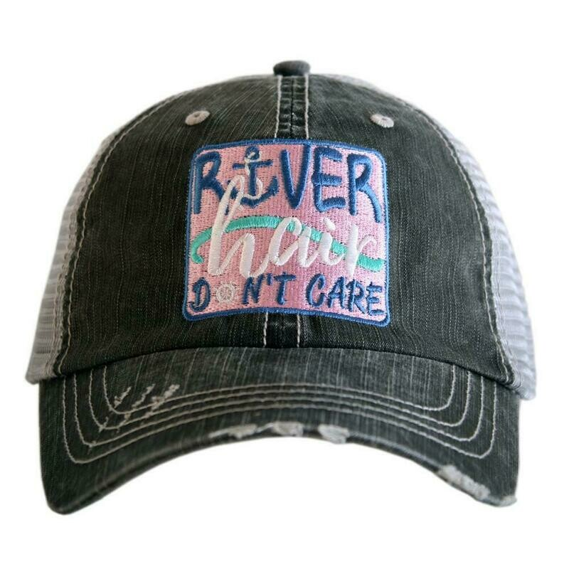 Trucker Cap River Hair Don't Care Patch