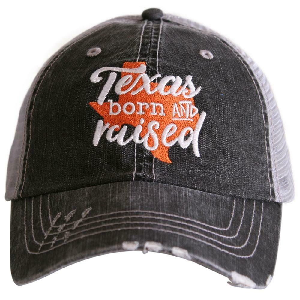 Trucker Cap Texas Born And Raised Burnt Orange