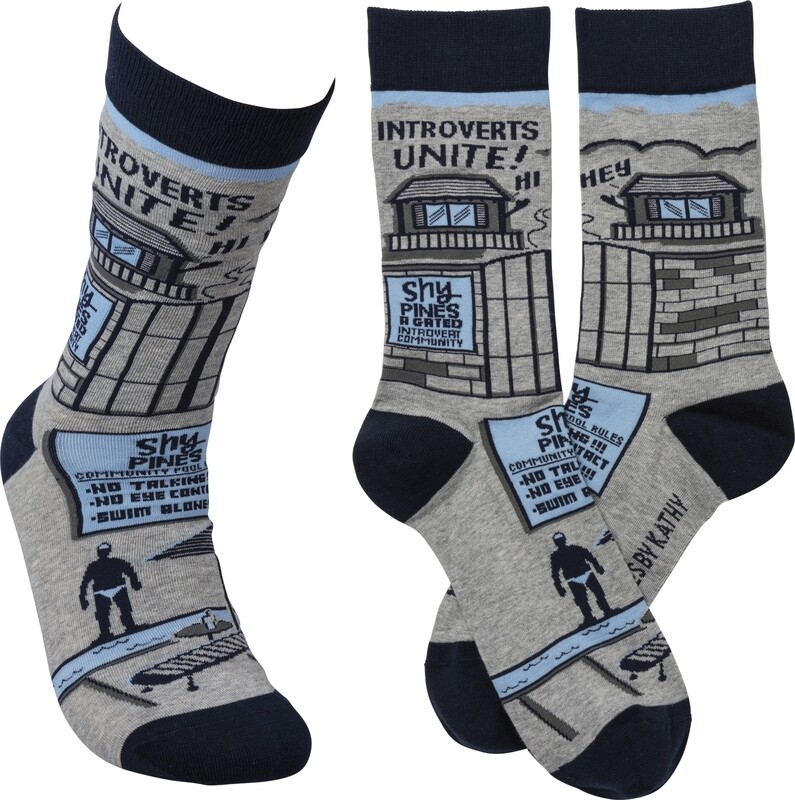 Introverts Unite! Socks