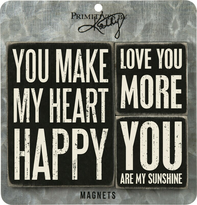Memo Holder Magnet Set - You Make My Heart Happy