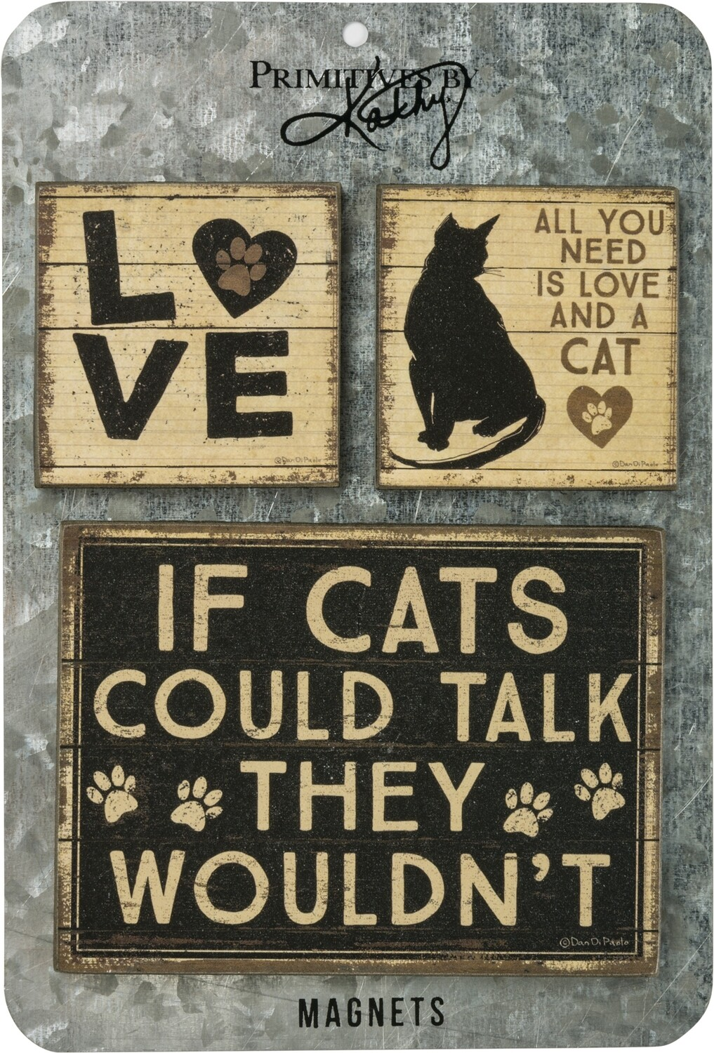 Memo Holder Magnet Set - If Cats Could Talk