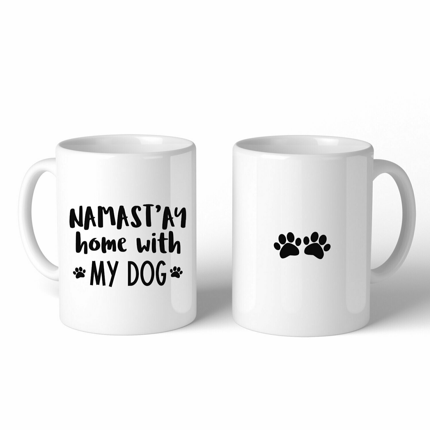 Namast'ay Home With My Dog Mug