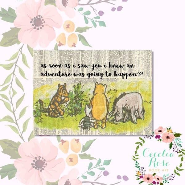 As Soon As I Saw You Winnie The Pooh Book Art Print
