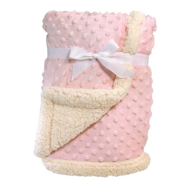 Minky Sherpa Blanket Pink