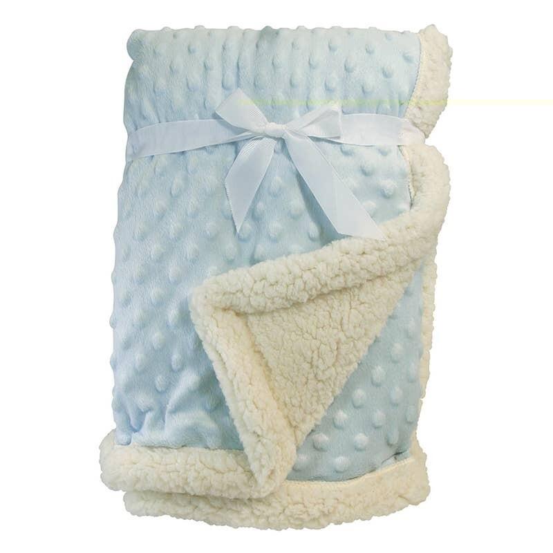 Minky Sherpa Blanket Blue