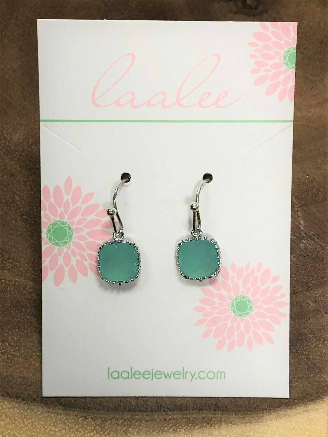 Laalee Dainty Earrings Mint Blue