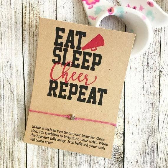 Wishlet Bracelet Eat Sleep Cheer Repeat