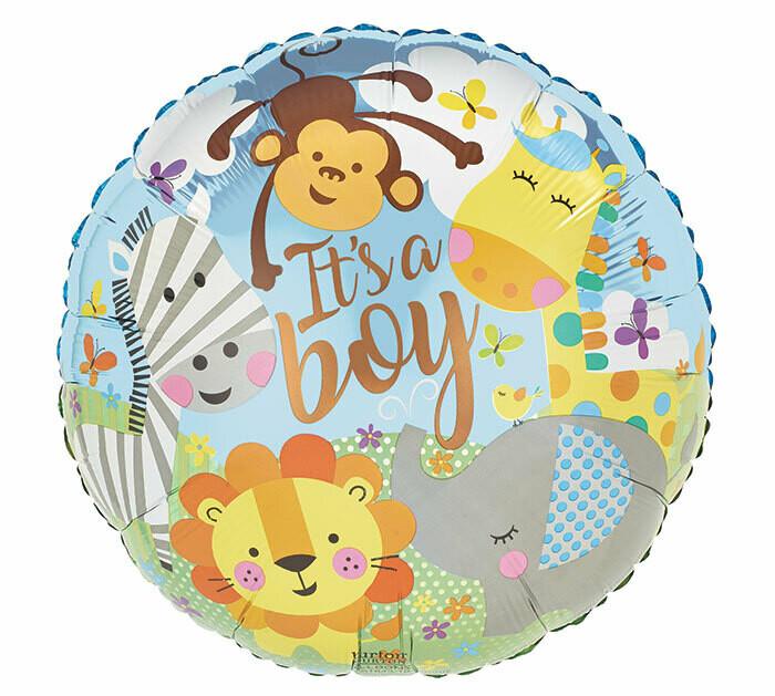 It's A Boy Zoo Balloon