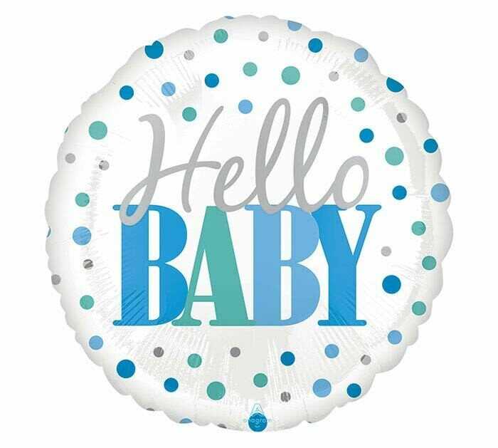 Hello Baby Boy Balloon