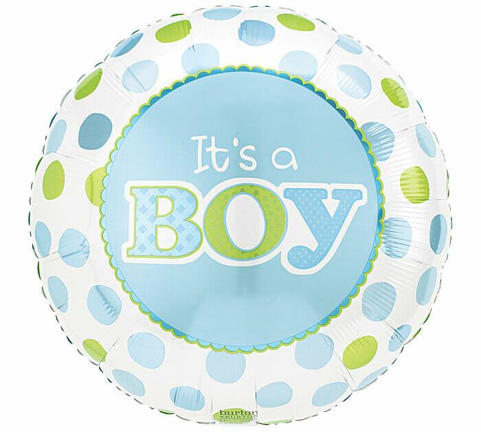 It's A Boy Dots Balloon