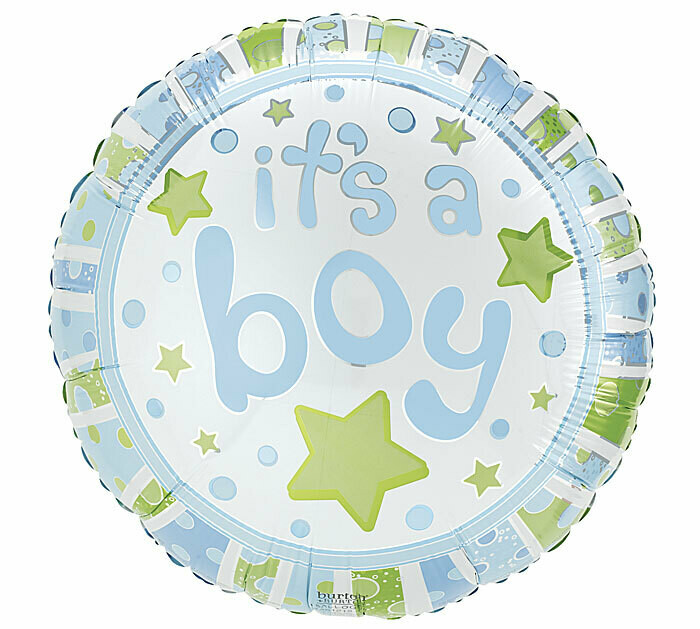 It's A Boy Stars & Dots Balloon