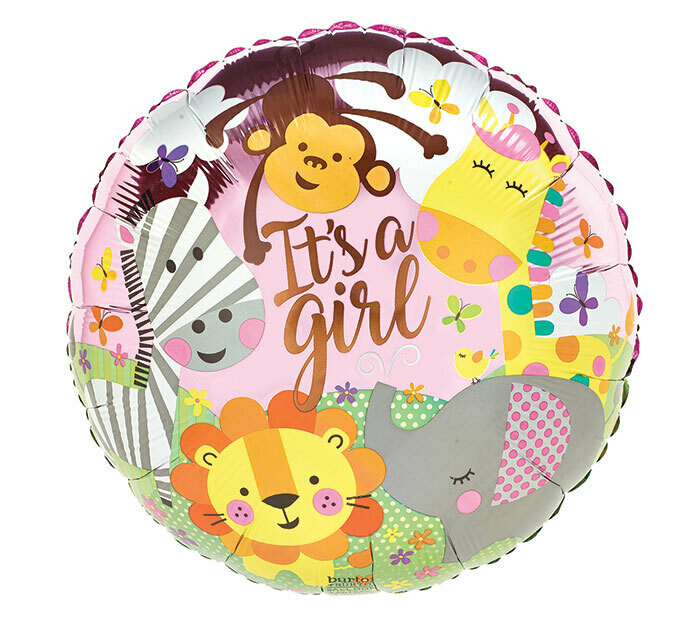 It's A Girl Zoo Balloon