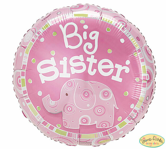 Big Sister Zoobilee Elephant Balloon