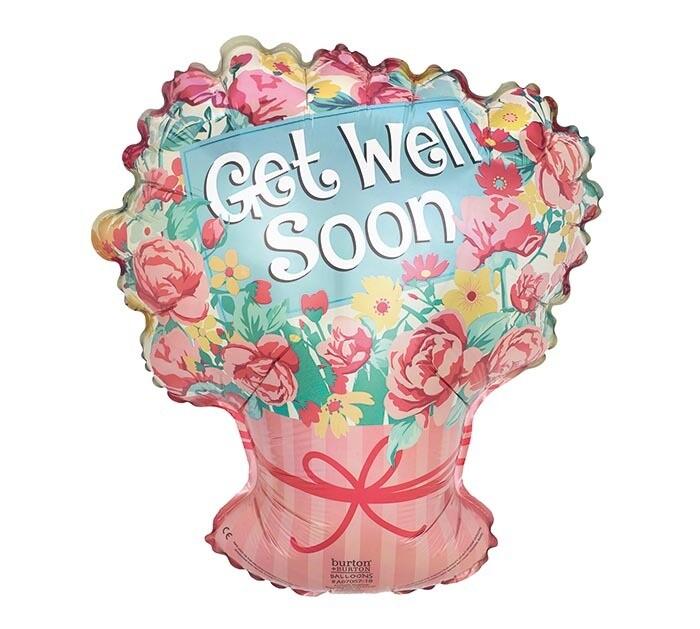 Get Well Soon Floral Bouquet Balloon