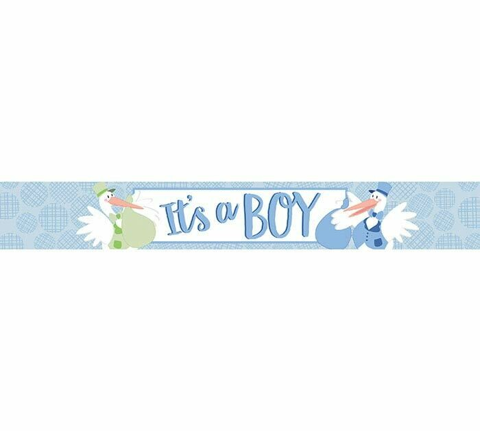 It's a Boy Mylar Banner