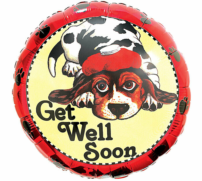 Get Well Soon Doggy Balloon