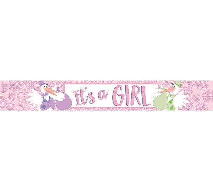 It's a Girl Mylar Banner