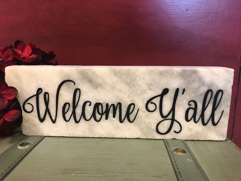 Welcome Y'all Granite Tabletop