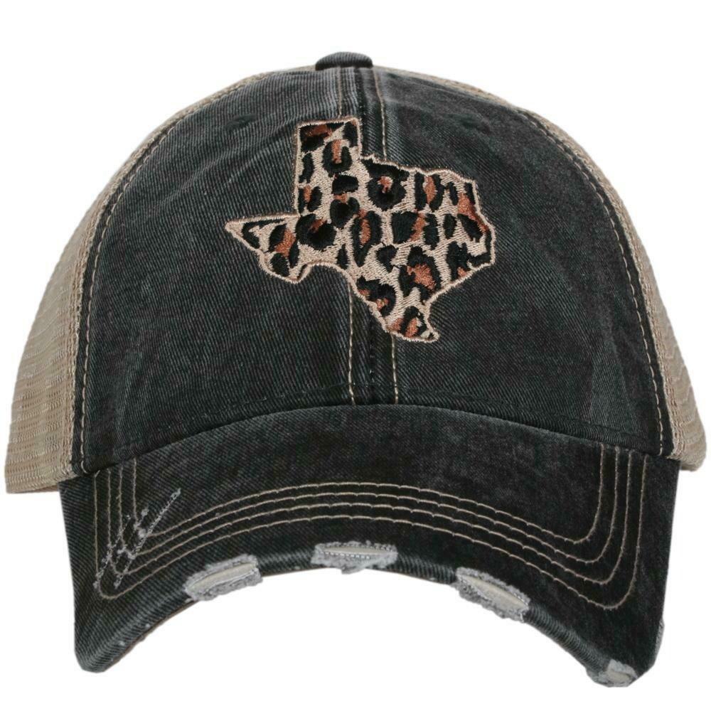 Trucker Cap Leopard Print Texas