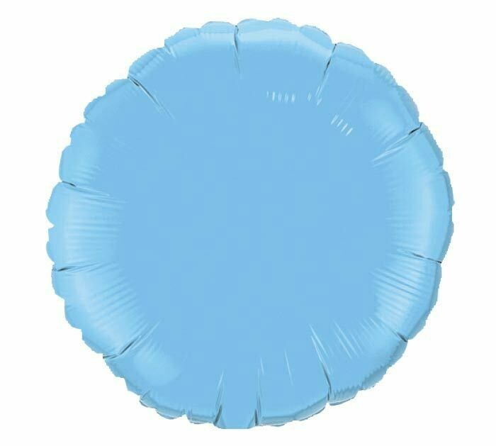 Solid Light Blue Balloon