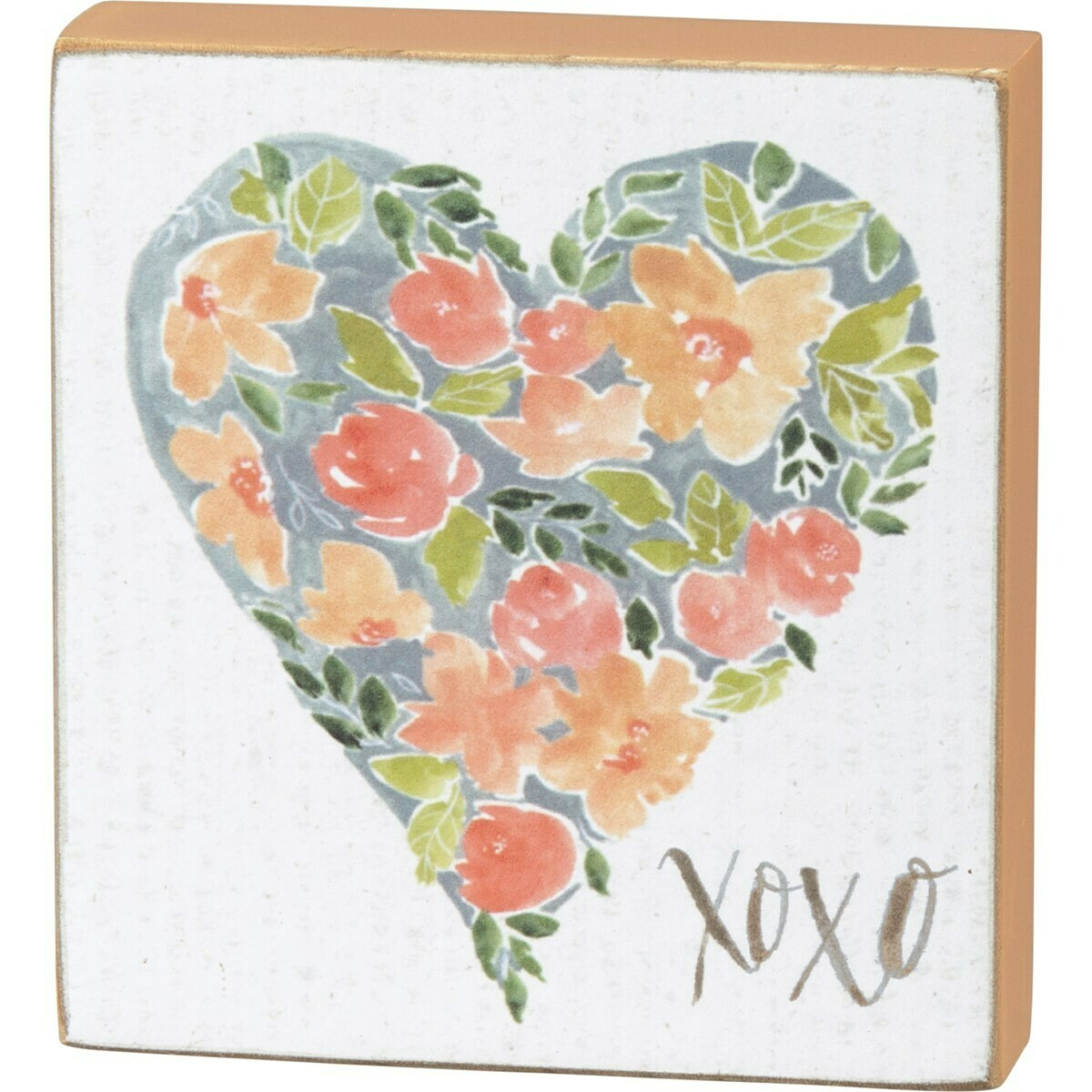 XOXO Heart Block Sign