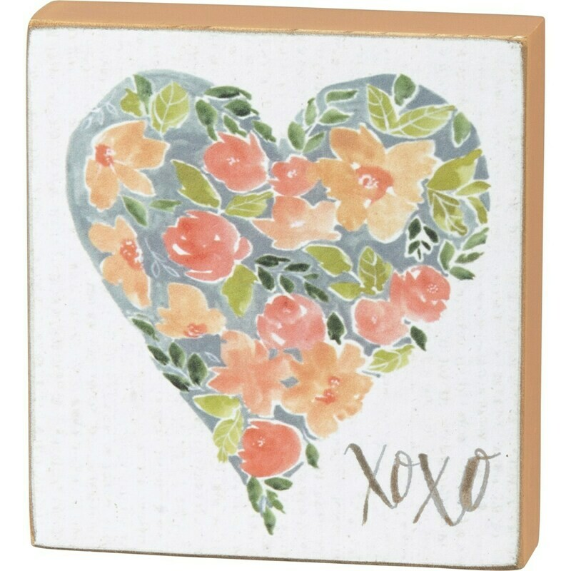 XOXO Heart Block Sign