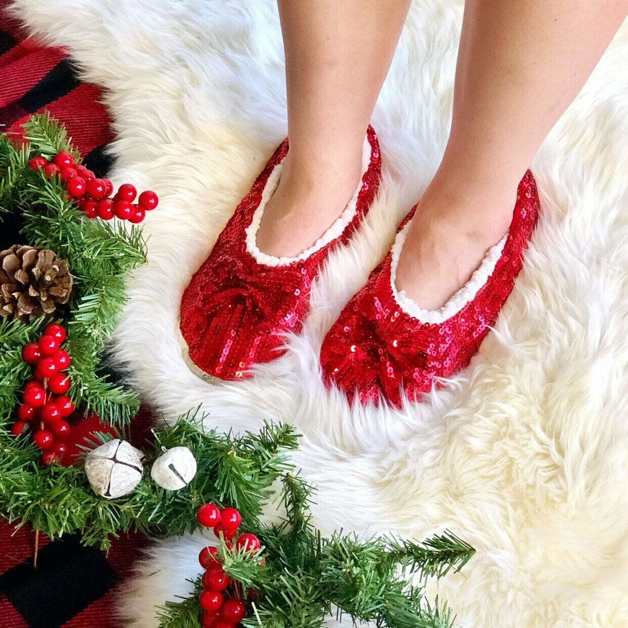 Red Bling Slippers