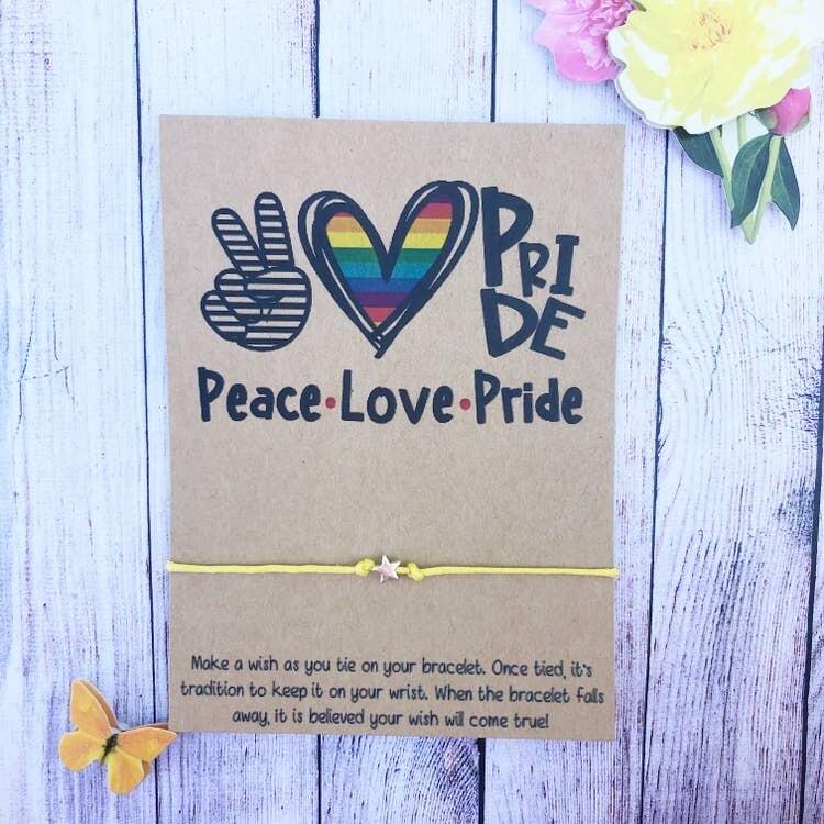 Wishlet Bracelet Peace Love Pride