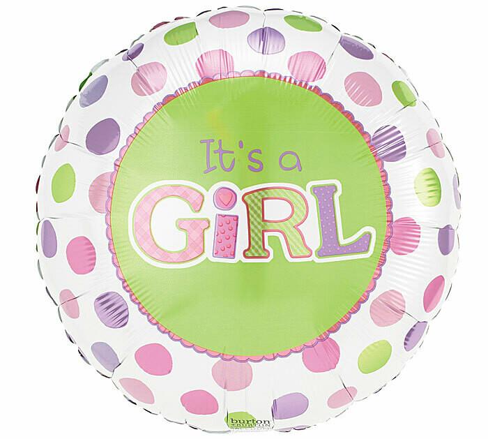 It's A Girl Dots Balloon