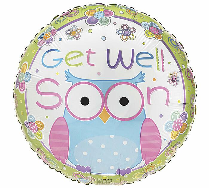 Get Well Soon Hootie Balloon
