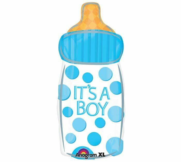 """It's A Boy Baby Bottle Balloon Oversized 24"""""""