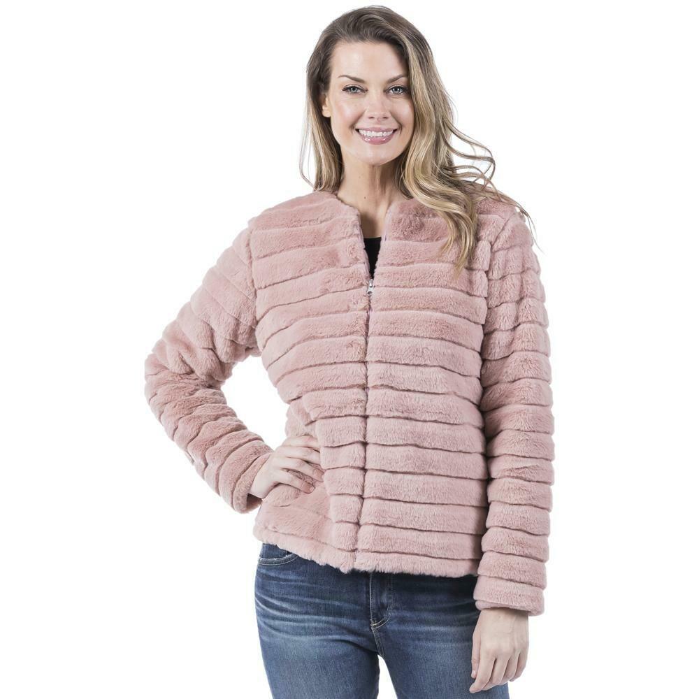 Faux Rabbit Jacket Pink
