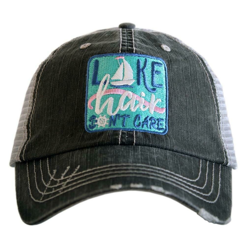 Trucker Cap Lake Hair Don't Care Patch