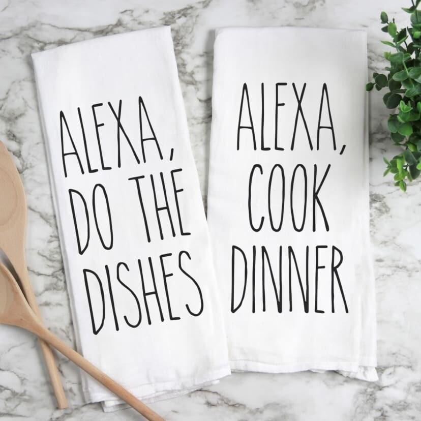 Alexa Cook Dinner Dish Towel